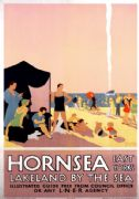 Hornsea, East Yorkshire. Vintage LNER Travel poster by Freiwirth.